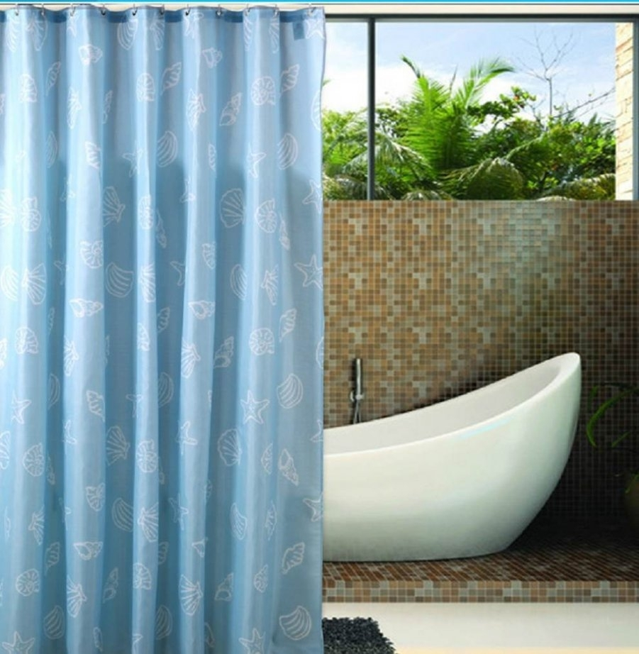 Clawfoot Tub Shower Curtain Low Odor Extra Wide Wmagnets White Frost ...