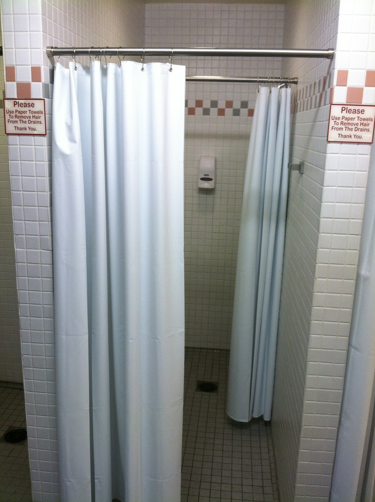 Standard Stall Shower Curtain Size