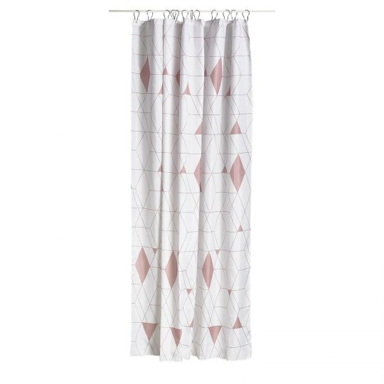 Permalink to Black And White Harlequin Shower Curtain