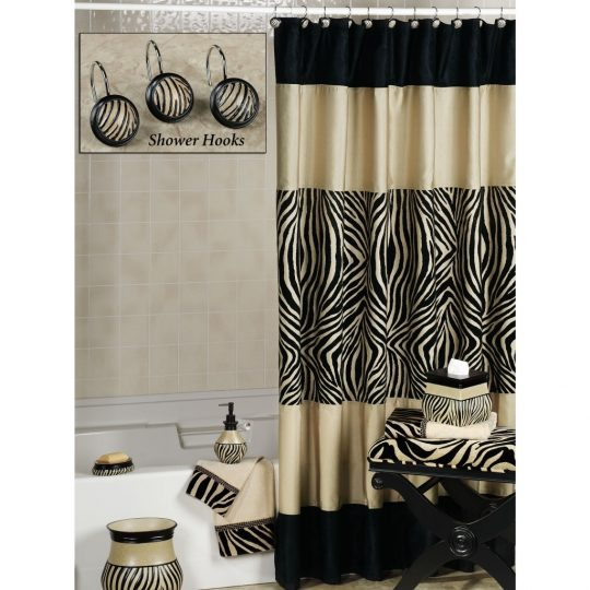 Permalink to Black Brown And White Shower Curtains