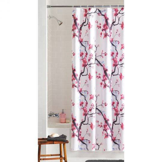Permalink to Black White And Pink Shower Curtains