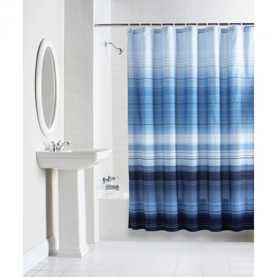 Permalink to Blue Mosaic Fabric Shower Curtain