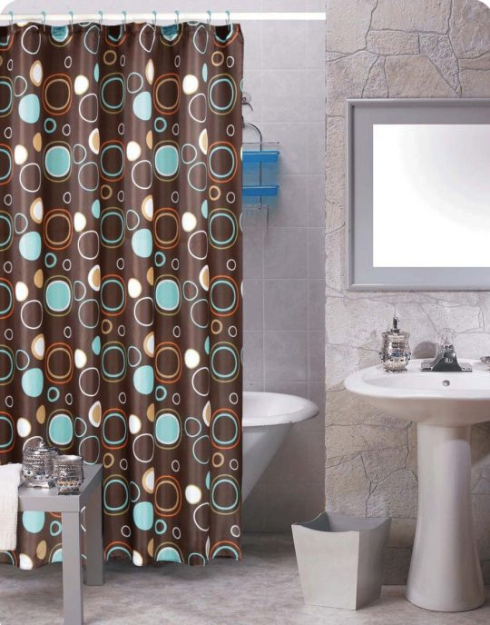 Permalink to Brown Turquoise Shower Curtain