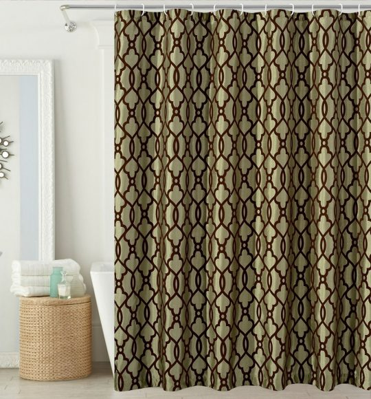 Permalink to Faux Silk Shower Curtains