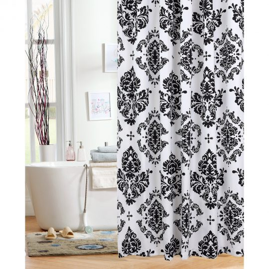 Permalink to Flower Drop Red Shower Curtain