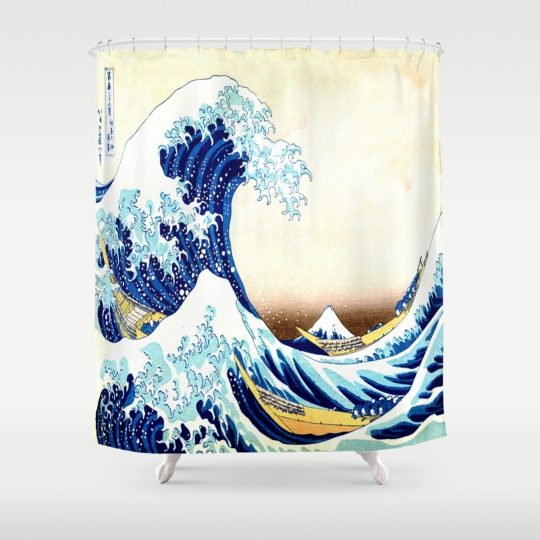 Permalink to Great Wave Shower Curtain