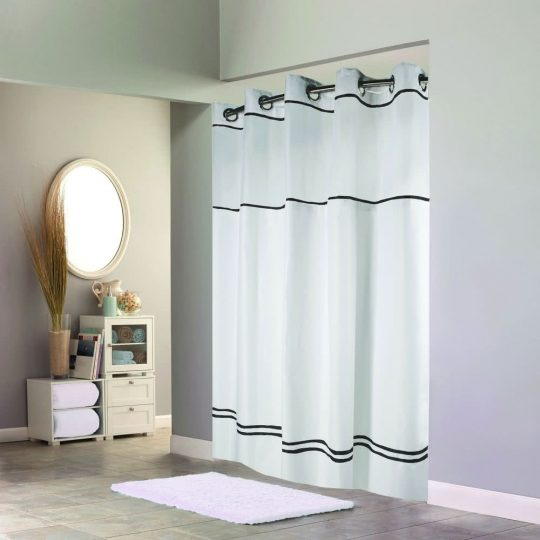 Permalink to Hookless Shower Curtain Black