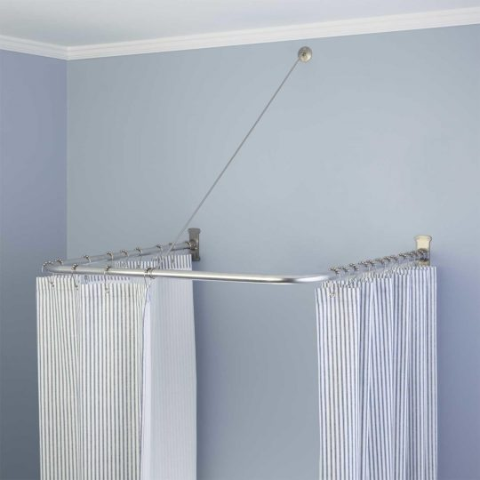 Permalink to L Ring Shower Curtain Rod