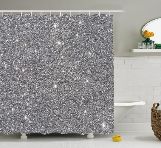 Permalink to Luxurious Silver Sequin Shower Curtain