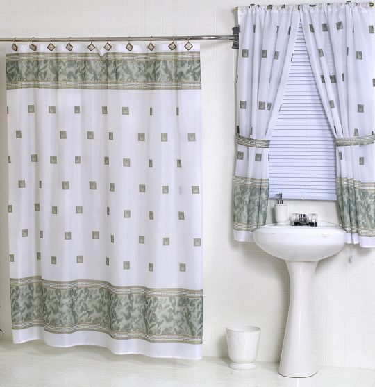 Permalink to Matching Window And Shower Curtains
