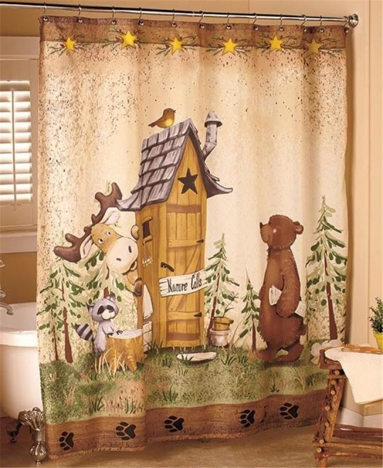 Permalink to Outhouses Shower Curtain