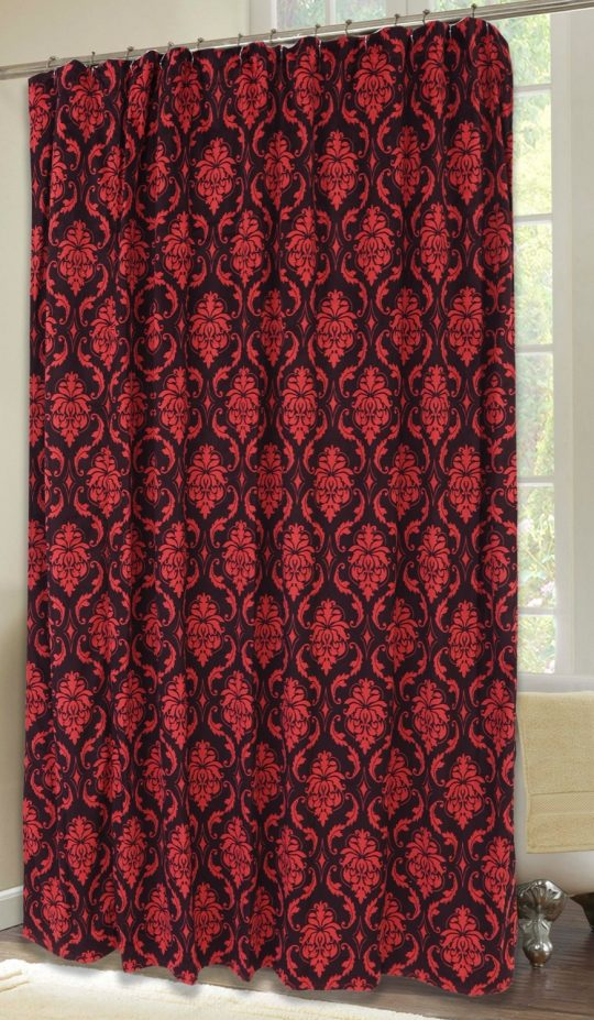 Permalink to Red Damask Shower Curtain