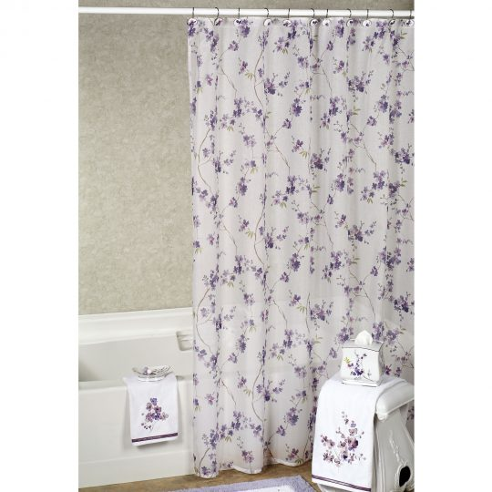 Permalink to Reflections Purple Shower Curtain