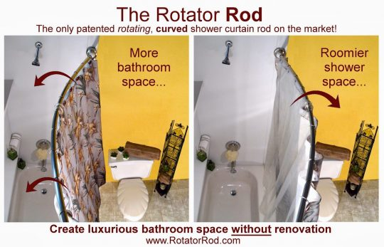 Permalink to Rotating Shower Curtain Rod