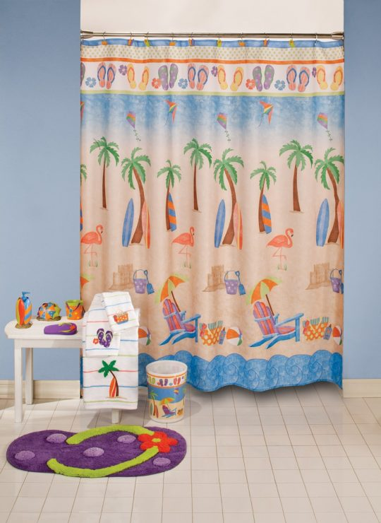 Permalink to Saturday Knight Hanging Loose Shower Curtain