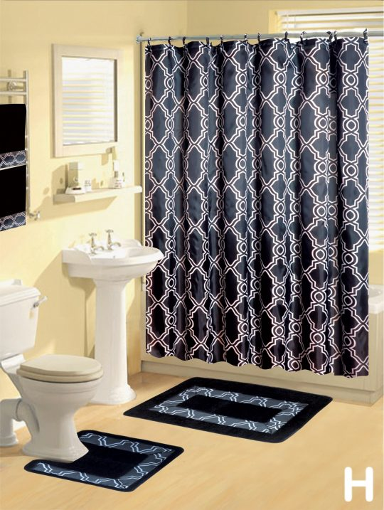 Permalink to Shower Curtain Rug And Towel Set