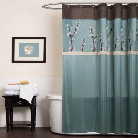 Permalink to Shower Curtains Blue And Brown