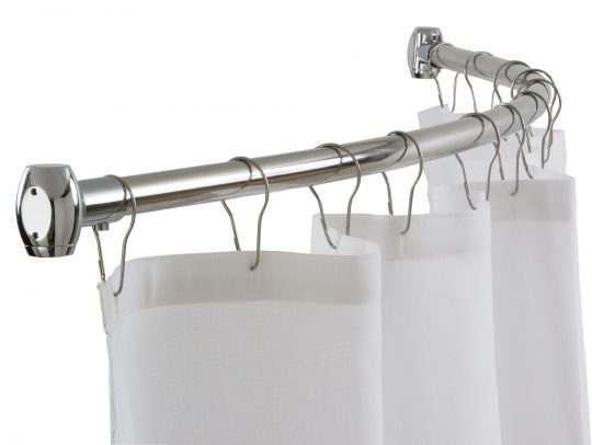 Permalink to Stainless Steel Curved Shower Curtain Rod