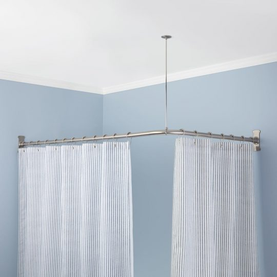 Permalink to Sunrise Curved Corner Mounted Shower Curtain Rod